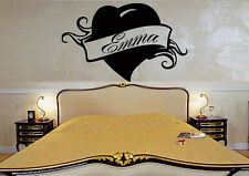 Wall Stickers Vinyl Decal Emma Personalized Name Lettering Custom  z996