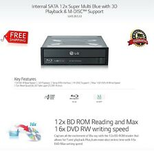 LG UH12 Internal SATA 5.25 Desktop Drive Burner.3D Blu-ray Player M-Disc Support
