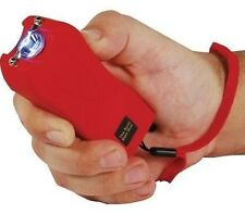 Self Defense Stun Gun RED Rechargeable 20 Million Volt LED w/ tazer HOLSTER