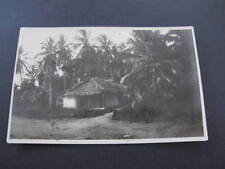 Malay Hut Singapore RPPC old Postcard