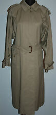 VINTAGE BURBERRYS TRENCH COAT MAC BEIGE NOVA CHECK LINING Single Breasted L XL