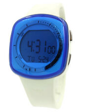 New Adidas Tokyo Blue Tint Glass Digital Chrono Ivory Band Women Watch ADH6024