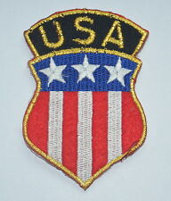 USA FLAG SHIELD AMERICA  EMBROIDERED APPLIQUE BADGE MORALE PATCH SEW IRON ON
