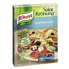 German KNORR Salat Kronung Greek Style Salad Dressing Mix for 3oz 90ml 5 Bags