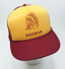True Vintage 1980s South Stokes Sauras High School 5 Panel Trucker Hat Indian