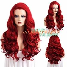"Hot Sale !!! 24"" Fashion Long Curly Red Lace Front Synthetic Full Hair Wig NEW"