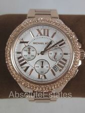 NEW Michael Kors Camille Chronograph Rose Gold Bracelet Watch MK5636 NIB Box