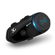 Hawk X1 Solid Black Bluetooth Motorcycle Headset