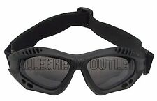 Ventec Black Tactical Goggles Lightweight - Anti-Fog - Shatterproof Lens NEW