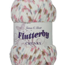 James C Brett Flutterby Chunky Knitting Wool Yarn 100g