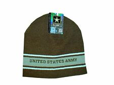Embroidered Army Green OD Military Watch Cap Stocking Winter Hat Free Shipping