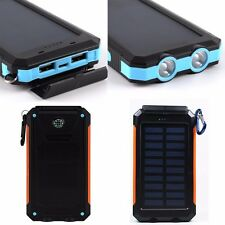 New UK Waterproof 300000mAh Solar Power Bank Camping Battery Charger For Phones