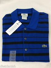 Lacoste Men's Polo Shirt SLIM FIT NWT Corvette Blue Black Stripes Size EU 4 US S