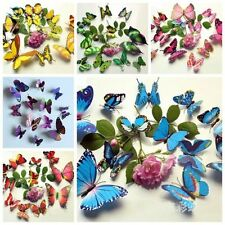 24pcs/Set 3D Butterfly Design Decal Art Wall Stickers Room Decor Home DIY