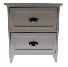2 Drawer Modern White Gloss Wooden Small Bedside Table /Cabinet Storage Unit