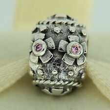 Authentic Pandora 790390PCZ Pink CZ Decorative Egg Easter Silver Bead Charm