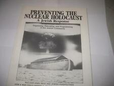 Preventing the Nuclear Holocaust - a Jewish Response edited by David Saperstein