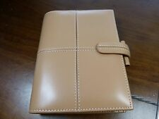 Genuine Filofax Cross Classic Camel leather organizer pocket excellent condition