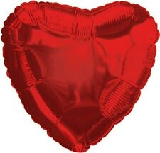 "18"" Solid Red Heart Shape Balloon Wedding Baby Shower Birthday Bridal Over Hill"