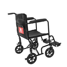 Lightweight Transit Portable Folding Travel Wheelchair With Brakes Comfortable