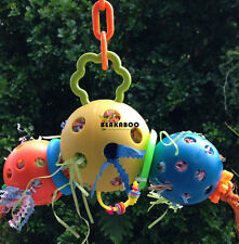 Bird toy, large parrot toy, foraging toy, stack of balls