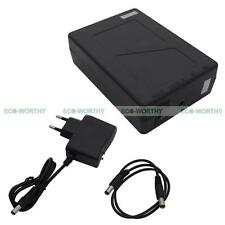 DC 12V 6800mAh Rechargeable Li-po Li-ion Battery W/ AC Adapter for CCTV Camera
