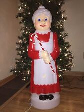 "EUC Christmas 41"" Union Mrs. Claus Lighted Blow Mold Yard Decor Don Featherstone"
