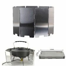 Outdoor Camping Cooking Picnic Stove BBQ Burner Windshield Wind Screen Foldable