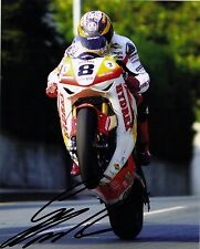 Guy Martin Signed 2009 Isle of Man TT 10 x 8 picture & we can show you proof
