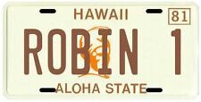 Magnum PI Tom Selleck 1980 Hawaii Robin 1 License plate