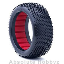 AKA Racing Gridiron II 1/8 Buggy Tires (Super Soft) w/ Red Inserts (1pr)