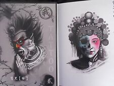 tattoo designs flash book old school Oriental style hardback book very nice