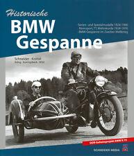 Historische BMW-Gespanne Seitenwagen Motorräder R75 AWO700 EMW R70 Boxer Buch