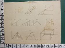 1811 fechado Antiguo impresión ~ análisis ~ Geometría Analítica