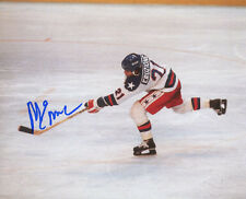 Mike Eruzione signed 1980 Team USA 8x10 Photo- Game Winning Goal Miracle on Ice