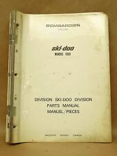 Vintage 1969 Nordic Bombardier Ski Doo Snowmobile Parts Manual Catalog