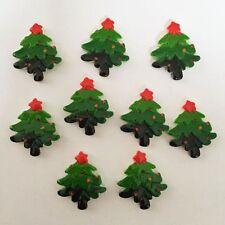 Hot DIY 10pcs Resin hand painting Christmas tree Flatback stone Wedding buttons