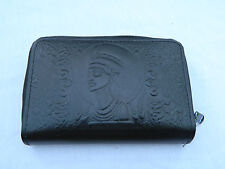 Egyptian Leather Women Lady Black Clutch Wallet Purse Card Nefertiti 222 Sale!!!
