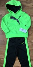 Puma Outfit 2 Piece Set Pants And Hoodie Baby Toddler Size 12 Months Lime Green