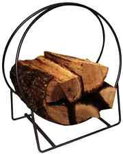 "20"" Tubular Steel Log Hoop Storing, Drying, Displaying Firewood Indoor/Outdoor"