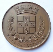 1956 CITY OF TOURCOING FRENCH BRONZE MEDAL / MEDAILLE