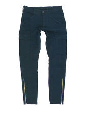 $231 J Brand 1229 Houlihan Japanese Twill Zip Cargo Pants in Navy Size 28