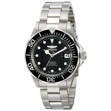 Invicta 17039 Gent's Black Dial SS Bracelet Automatic Dive Watch