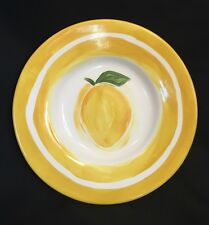 "POTTERY BARN Sausalito Pasta Salad 10"" Bowl Lemon Yellow Ceramic"