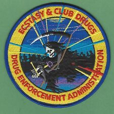 DEA DRUG ENFORCEMENT ADMINISTRATION ECSTACY & CLUB DRUGS UNIT POLICE PATCH