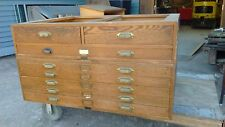 Wooden Flat File Map Cabinet  K&E 3 Drawer