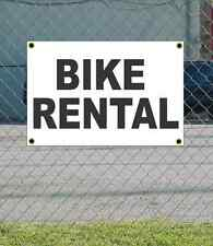 2x3 BIKE RENTAL Black & White Banner Sign NEW Discount Size & Price FREE SHIP