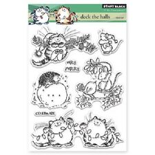 PENNY BLACK RUBBER STAMPS CLEAR DECK THE HALLS STAMP SET NEW 2015
