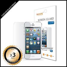 iPhone 5 Screen Protector Anti-Scratch Clear 3x Front Cover Guard Shield