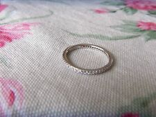 NEW Hidalgo DIAMONIQUE Sterling MICROPAVE Eternity RING Sz 9 Wedding ANNIVERSARY